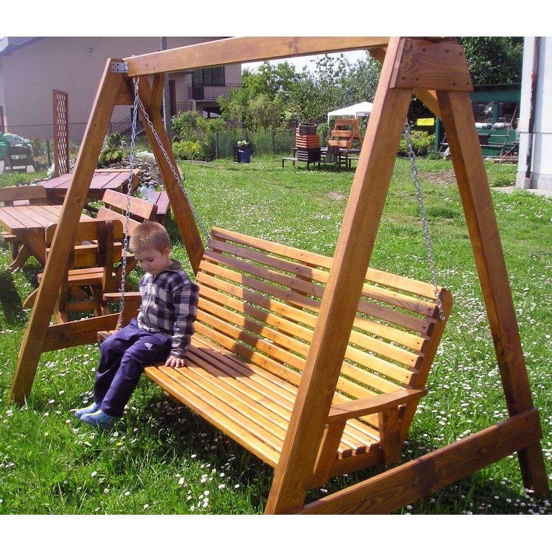 Hustawka Ogrodowa Drewniana Internetowy Ogrod Outdoor Decor Porch Swing Decor