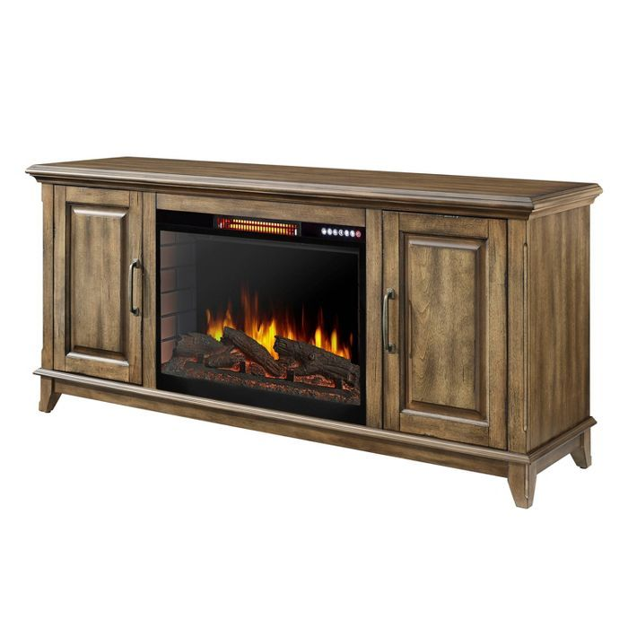 60 Marcus Electric Fireplace With Bluetooth Antique Pine Finish Muskoka Electric Fireplace Tv Stand Fireplace Tv Stand Electric Fireplace