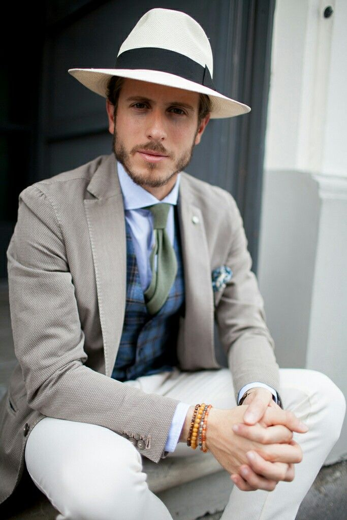 stylish Panama hats for men | Milan men's fashion week ...