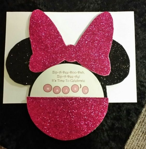 diy minnie mouse invitations  with images