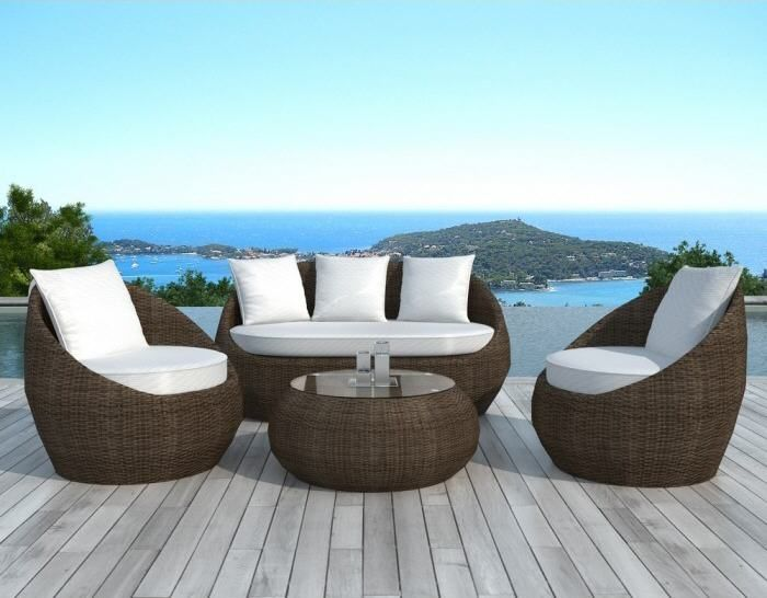 Salon de Jardin Atylia, Salon de jardin design Rondo rotin | Outdoor ...