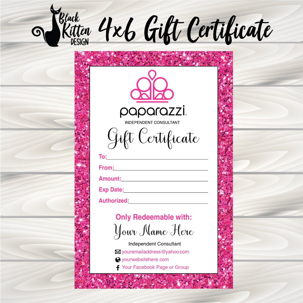 Pin By Abbynicole On Paparazzi Printable Gift Certificate Paparazzi Gifts Glitter Business Cards