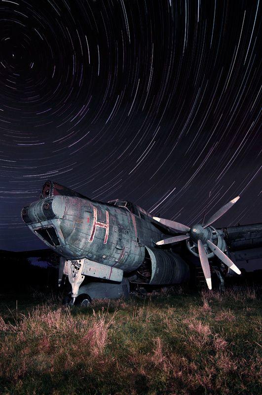 Avro Shackleton Star Trails (by jamescharlick)