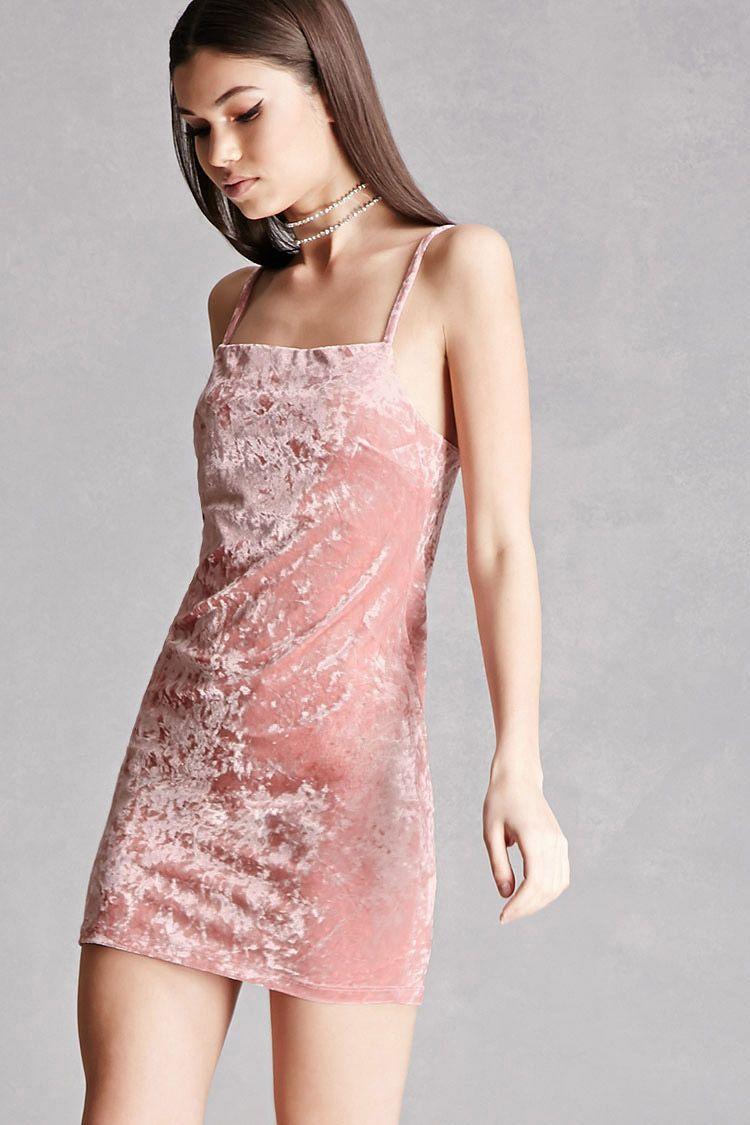 Crushed Velvet Mini Dress | FOREVER 21 | Pinterest