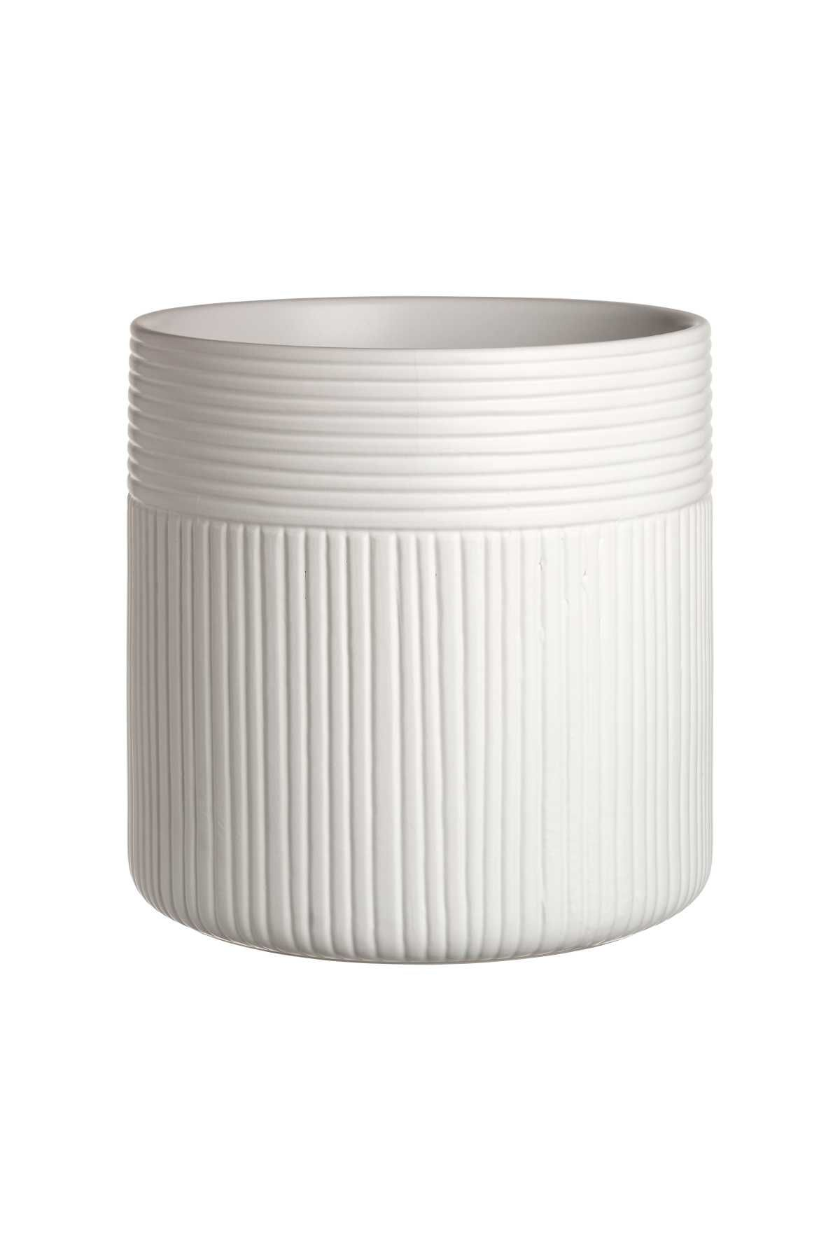 Natural White Large Textured Ceramic Plant Pot Diameter 6 1 2 In Height 6 3 4 In Ceramic Plant Pots Potted Plants Ceramic Texture