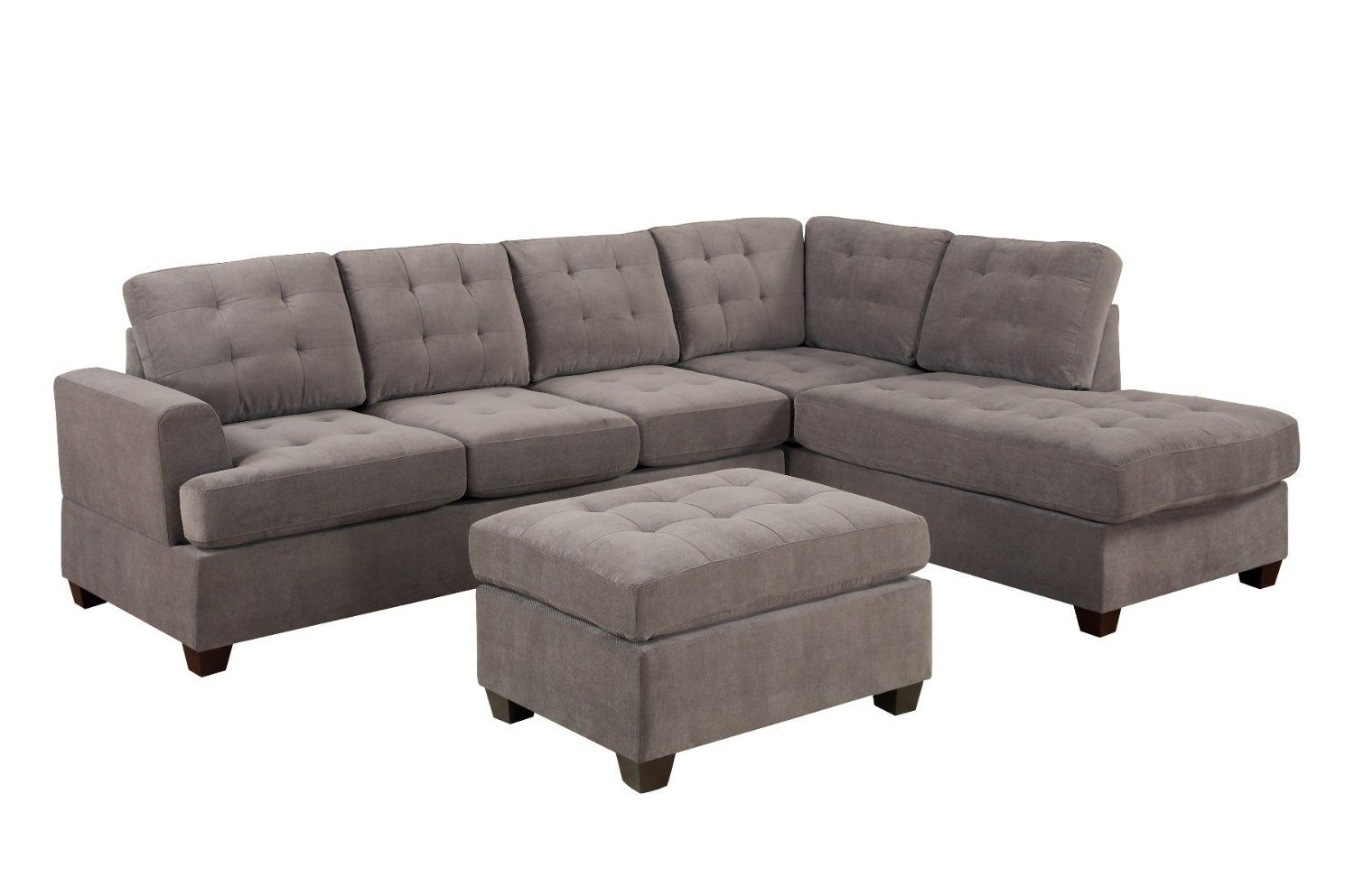 Best Amazon Com Bobkona Austin 3 Piece Reversible Sectional 640 x 480