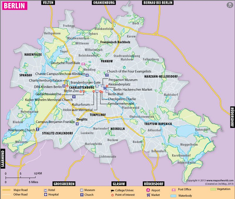 Map Of Germany Showing Cities.Map Showing Divisions Cities Airports Roads Railways Tourist