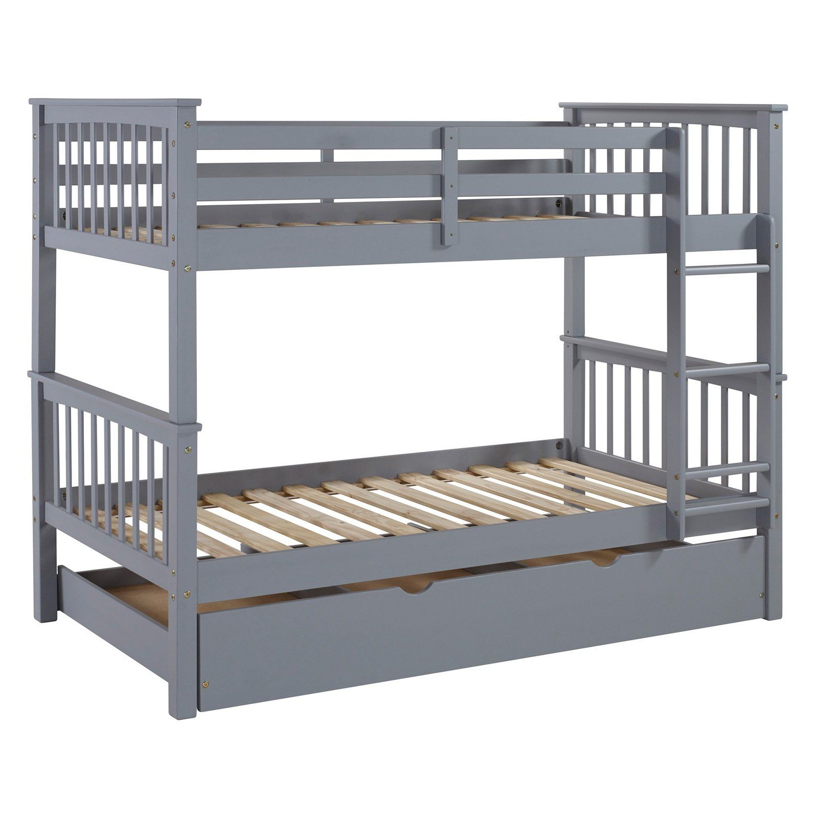 Walker Edison Solid Wood Twin over Twin Bunk Bed with