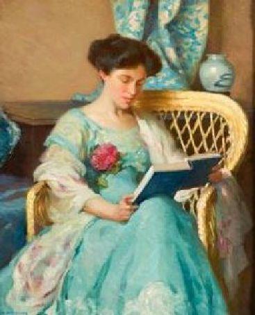 A woman reading - William Chadwick (1879 – 1962)