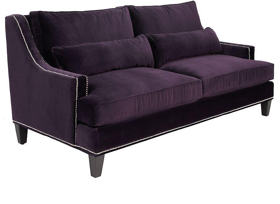 Retro Style Quot Pierre Quot Sofa In Aubergine Purple From Z