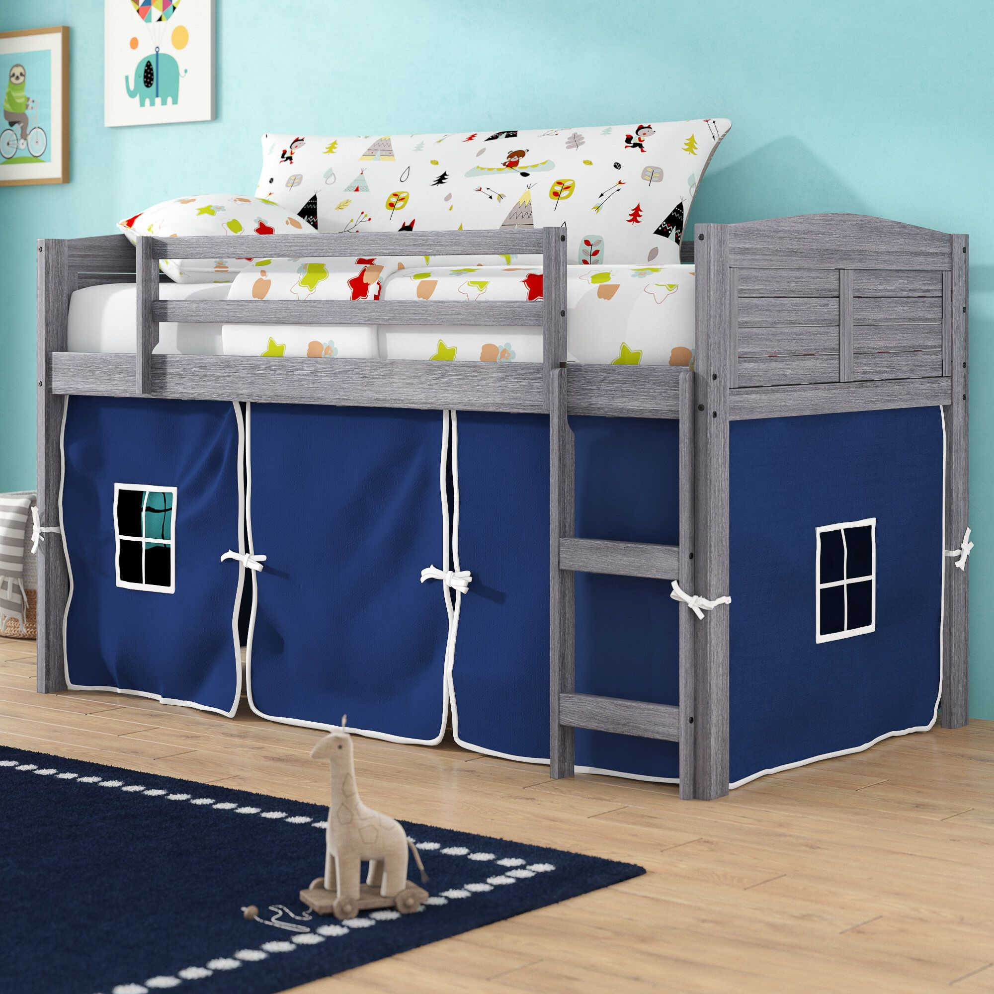 Coles Twin Low Loft Bed Low Loft Beds Loft Bed Loft Bed Frame