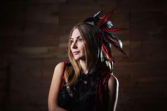Feather headdress hairband Dragon's Gift