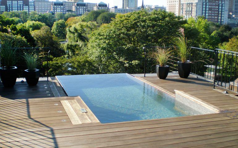 Custom Stainless Steel Pool With Infinity Edge: Stainless Steel Swimspa With An Infinity Edge By Bradford