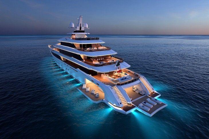 columbus yachts fait son entr e sur le march des m gayachts yacht de luxe pinterest le. Black Bedroom Furniture Sets. Home Design Ideas