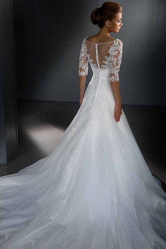 Long sleeved wedding dress. Lace wedding by AutumnSilkBridal ...