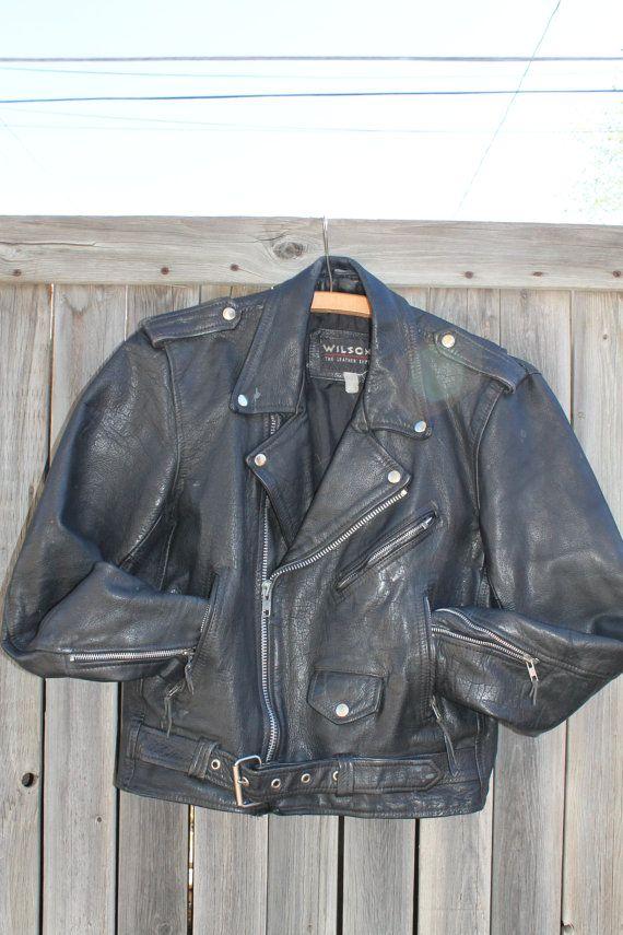 Vtg Wilsons Leather Motorcycle Jacket Unisex Womens By Taite 45 00 Wilsons Leather Leather Motorcycle Jacket Jackets