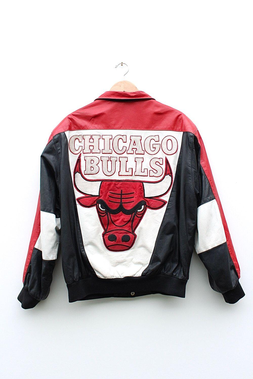 90s Chicago Bulls Starter Jacket - 90s Grunge Normcore Chicago Bulls  Leather Varsity Jacket - Chicago Bulls NBA Letterman Bomber Jacket