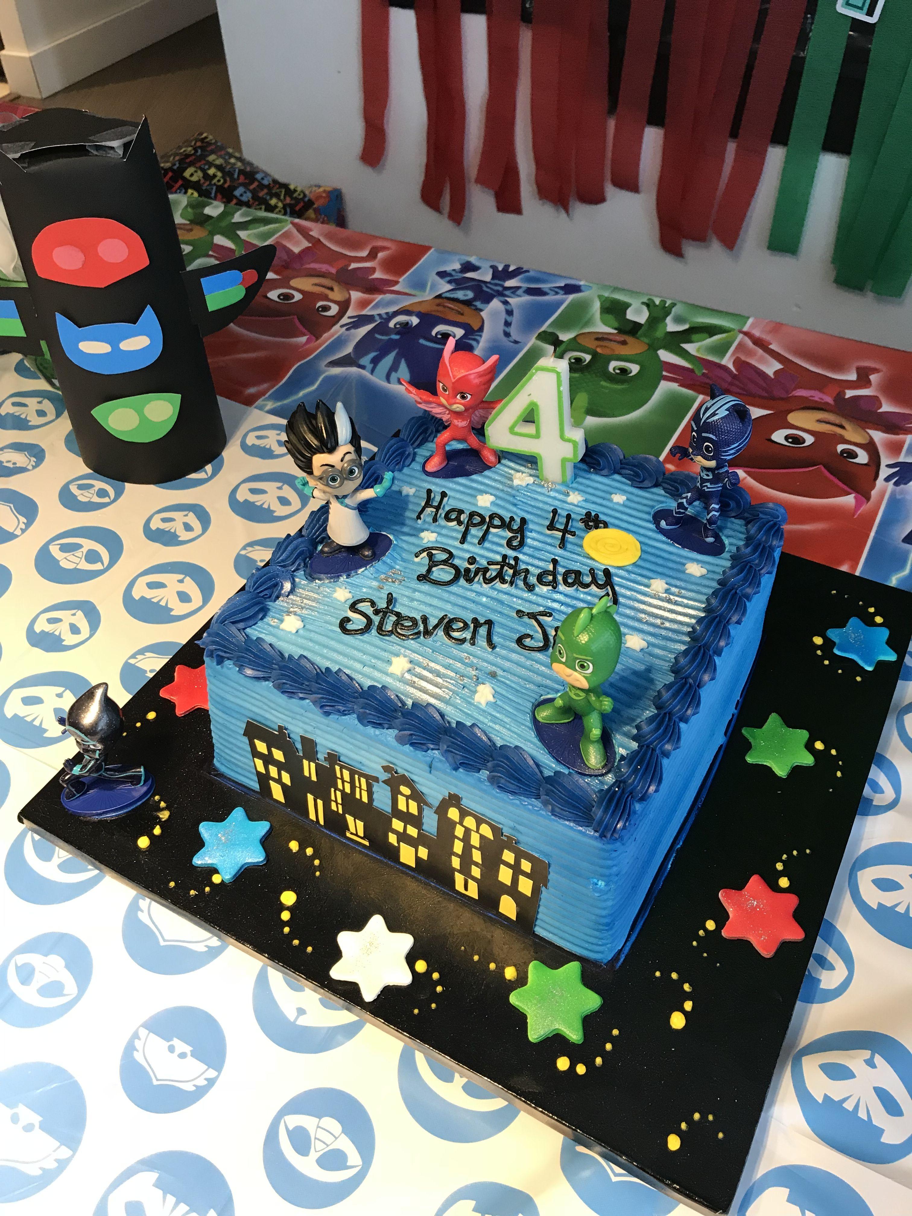 Pj Masks Cake With Images Pj Masks Birthday Cake Pj Masks