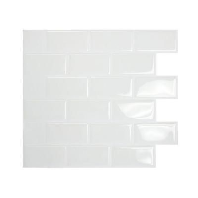 Smart Tiles 1 1 2 In X 3 In White Mosaik Decorative Wall Tile 1020 At The Home Depot Quick Fix Until We Smart Tiles Vinyl Wall Tiles Decorative Wall Tiles
