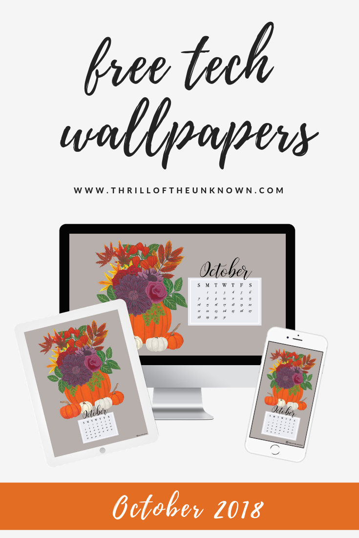Free October 2018 Digital Wallpaper The Free Wallpaper Calendar For