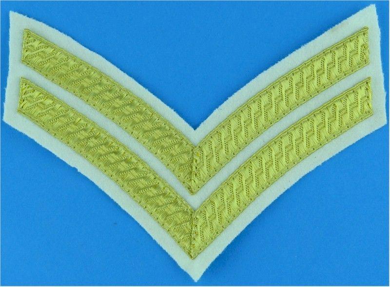 Corporals rank stripes no1 dress on white 1721l 13