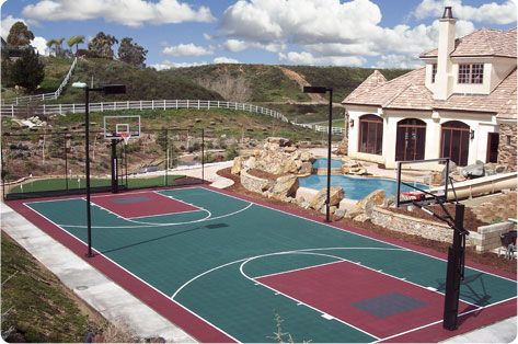 Tennis Courts Bball Together Outdoor Basketball Court Home Basketball Court Sports Court Flooring
