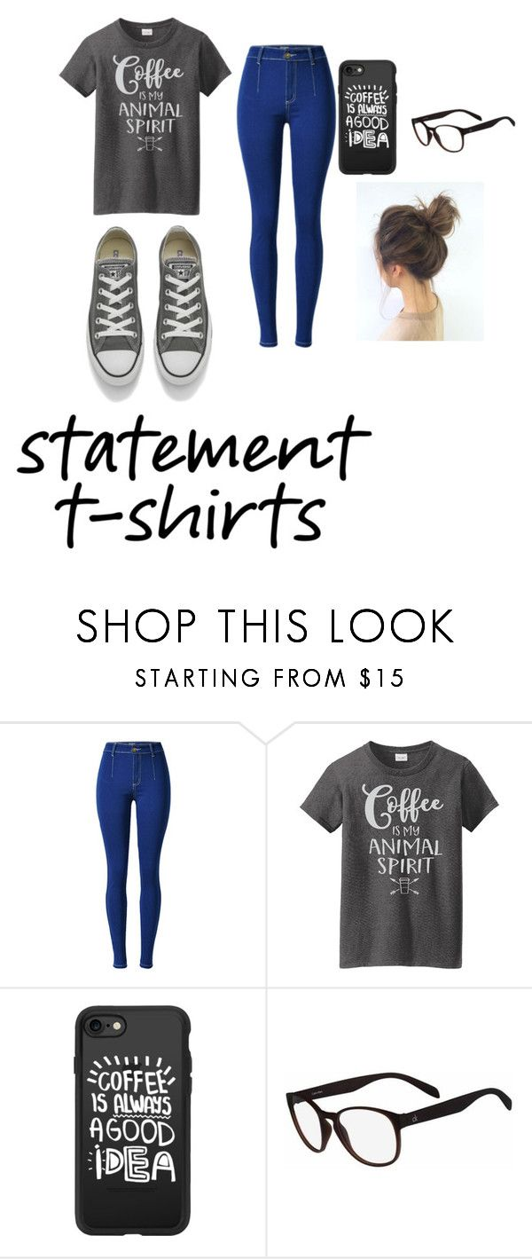 """""""Statement T-Shirts"""" by abbytherose ❤ liked on Polyvore featuring Casetify and Converse"""