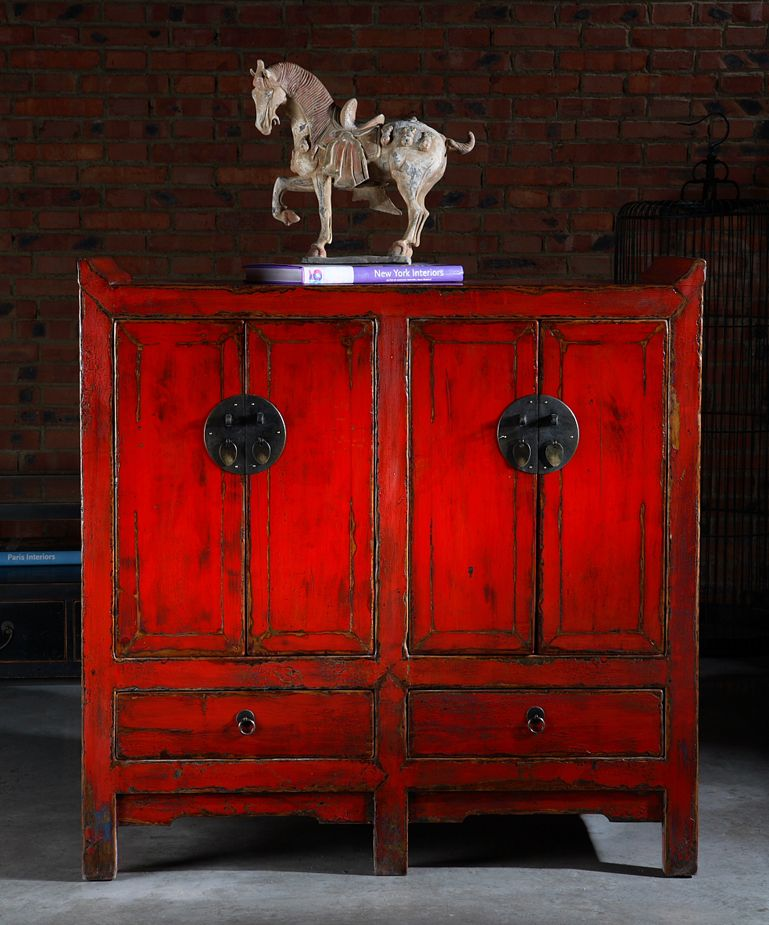 Antique Red Kitchen Cabinets: Beautiful Antique Chinese Cabinet..