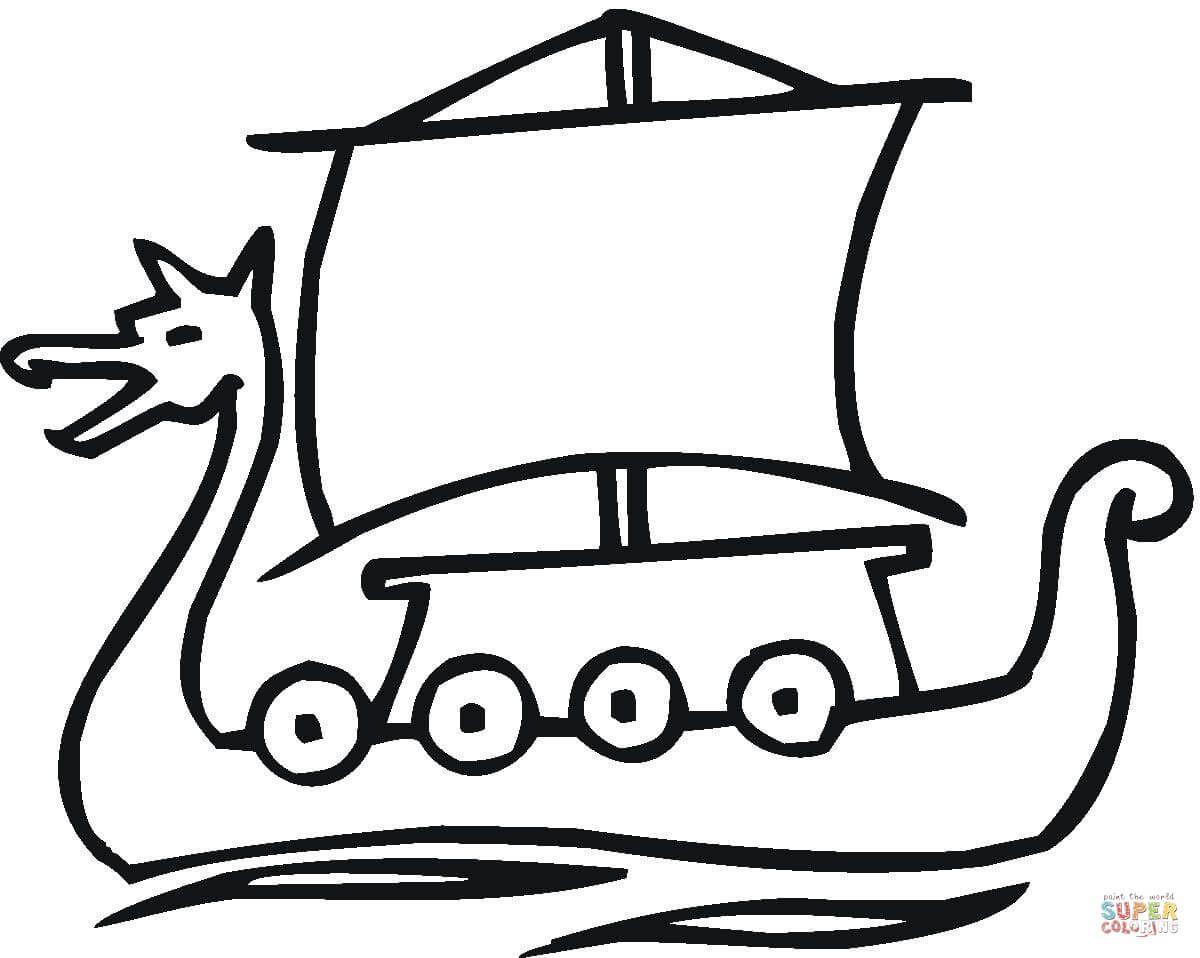 Resultado De Imagen De Barco Vikingo Colorear Viking Drawings Vikings Viking Ship