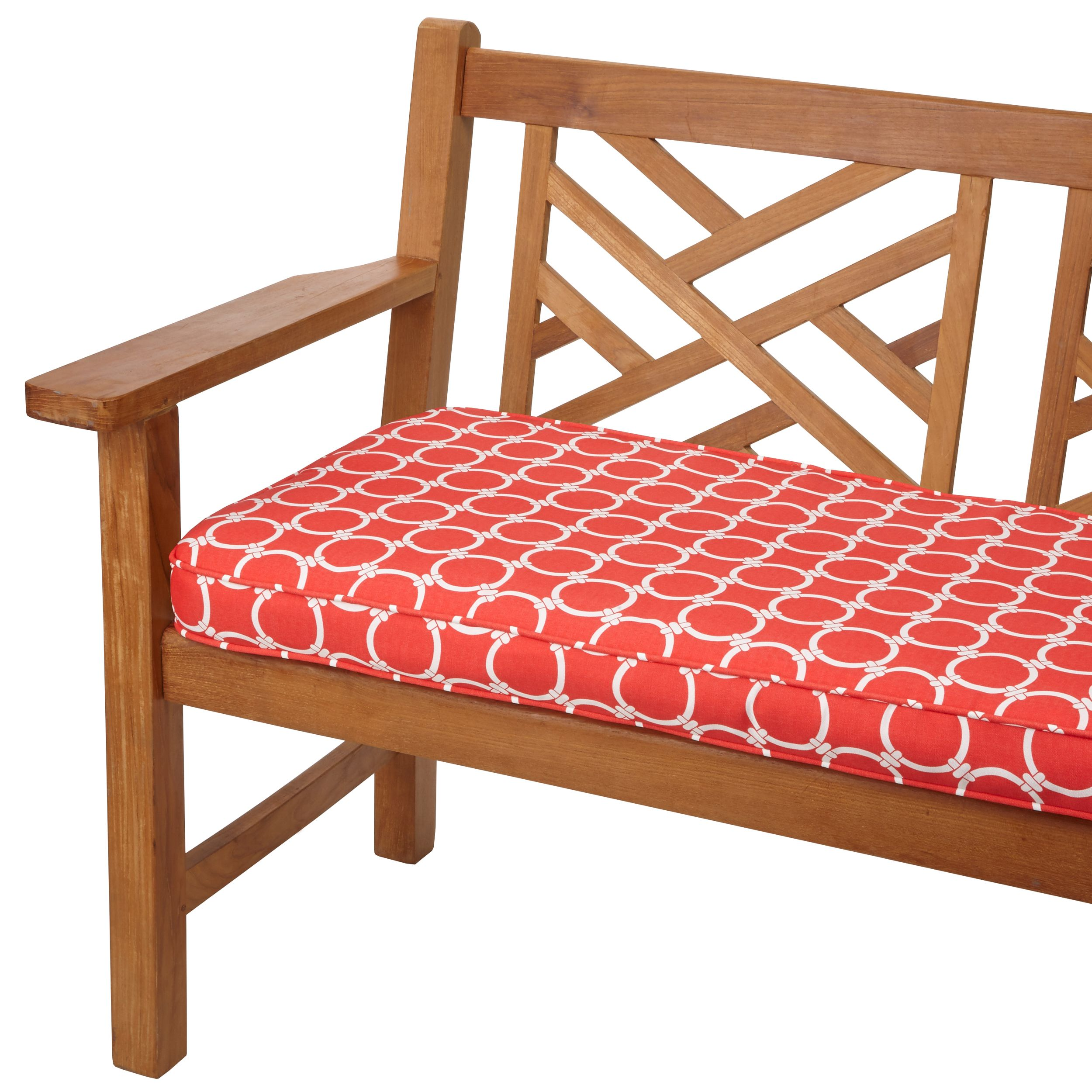Links Coral 48 Inch Indoor Outdoor Corded Bench Cushion Products