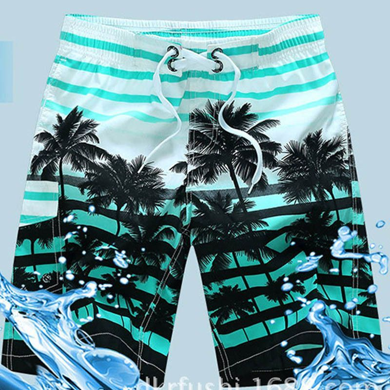 b7c161091df Hawaiian Beach Shorts Men Striped Man Board Shorts Mesh Lined Boardshorts  Swimwear Trunks Quick Dry Surfboard
