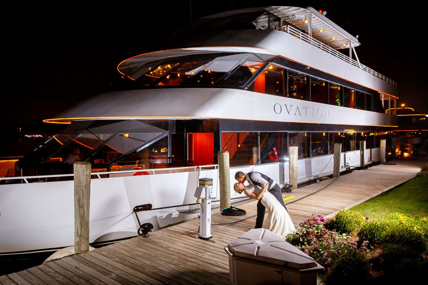 See Why A Wedding With Infinity And Ovation Yacht Charters Is A Departure From The Ordinary Photo Phil Black Phot Detroit Wedding Venue Yacht Wedding Yacht