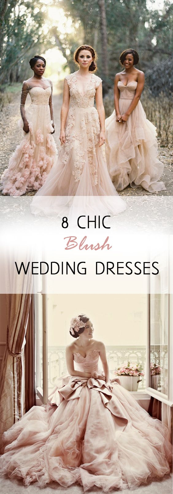 Non traditional wedding dress   Chic Blush Wedding Dresses  Wedding colour schemes Blush wedding