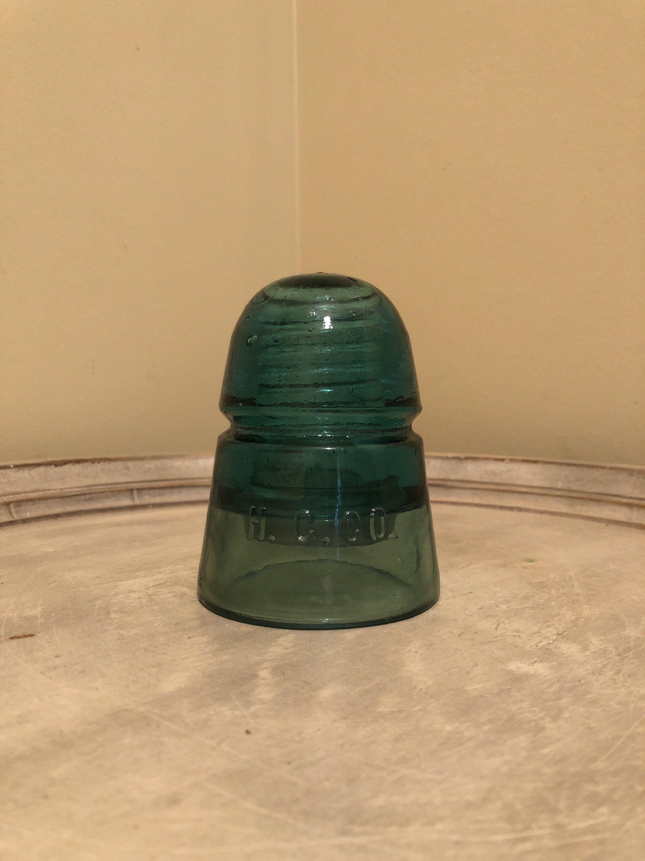 Hemingray aqua beehive insulator HGCO