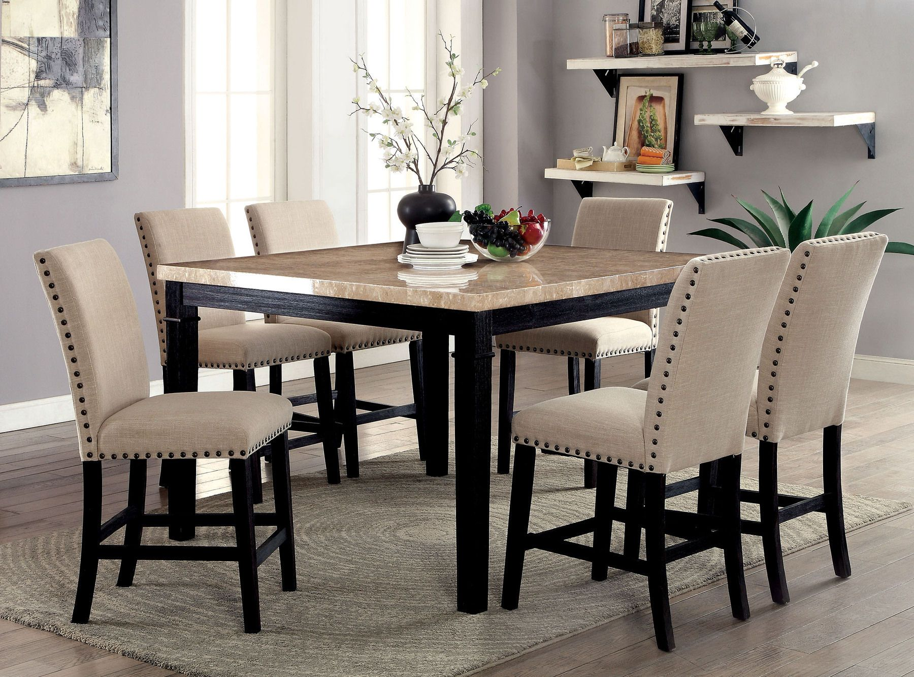 Dodson Ii Table Counter Height Table Sets Solid Wood Dining Set