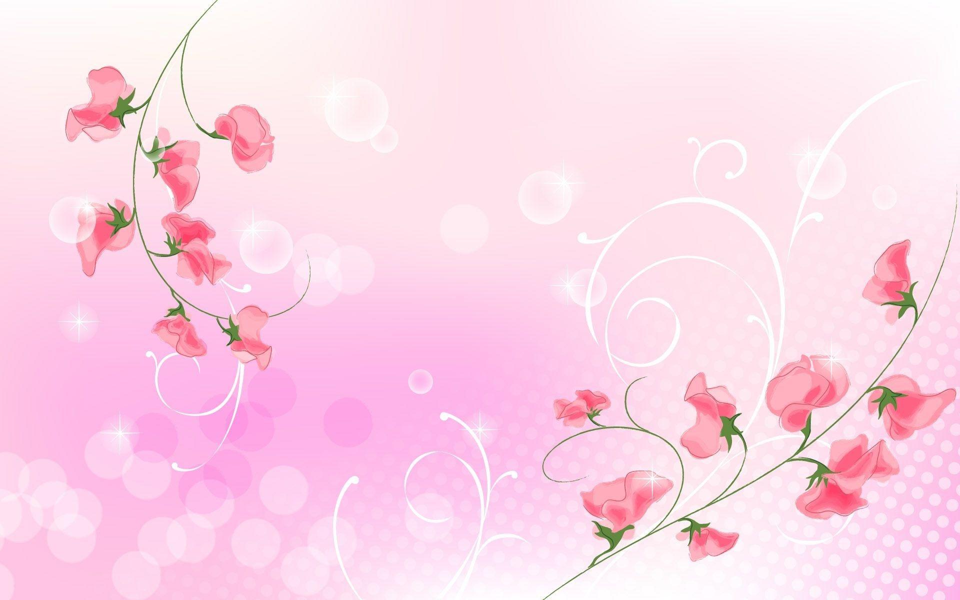 Pink Simple Light Background Ololoshenka Flower