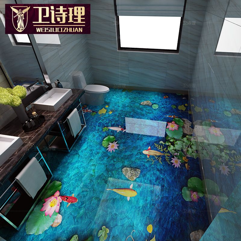 ราคาถูก Best Quality 8D Polished Crystal 3D Ceramic Tile 3d Floor Tiles  Bathroom Kitchen Chinese 3D Floor Tile Non Slip Wear Resisting ซื้อคุณภาพ  กระเบื้อง ...