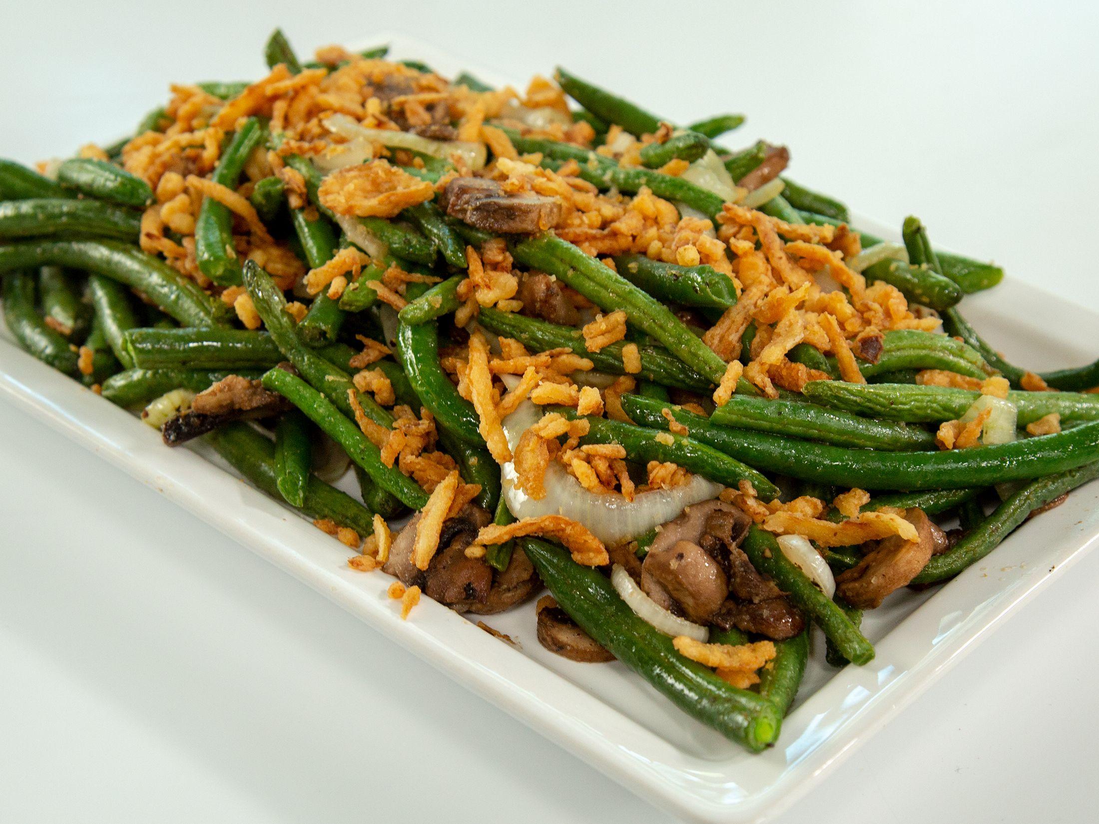 Air Fried Green Bean Casserole Air fried green beans