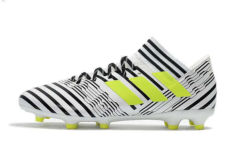 5d75dc14d3 2017-2018 FIFA World CUP New Soccer Cleats Adidas Nemeziz Messi 17 1 FG  White Black Yellow
