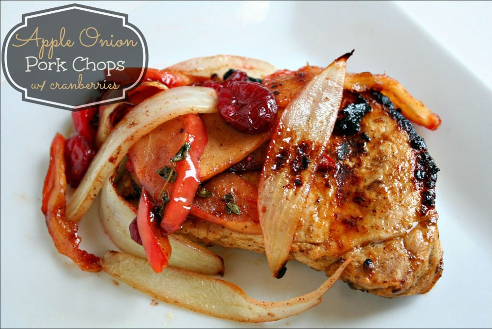 apple onion pork chops