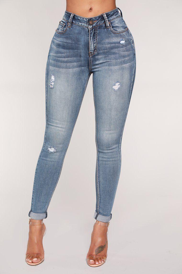 Pin op jeans strak
