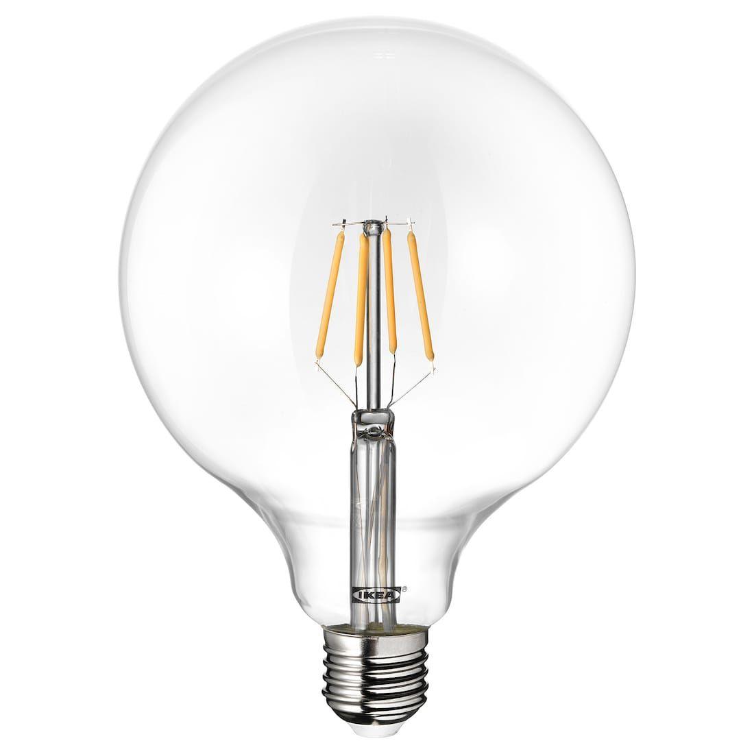 Lunnom Bombilla Led E27 600 Lumenes Globo Vidrio Incoloro Ikea Vetro Trasparente Lampadina Luci Decorative