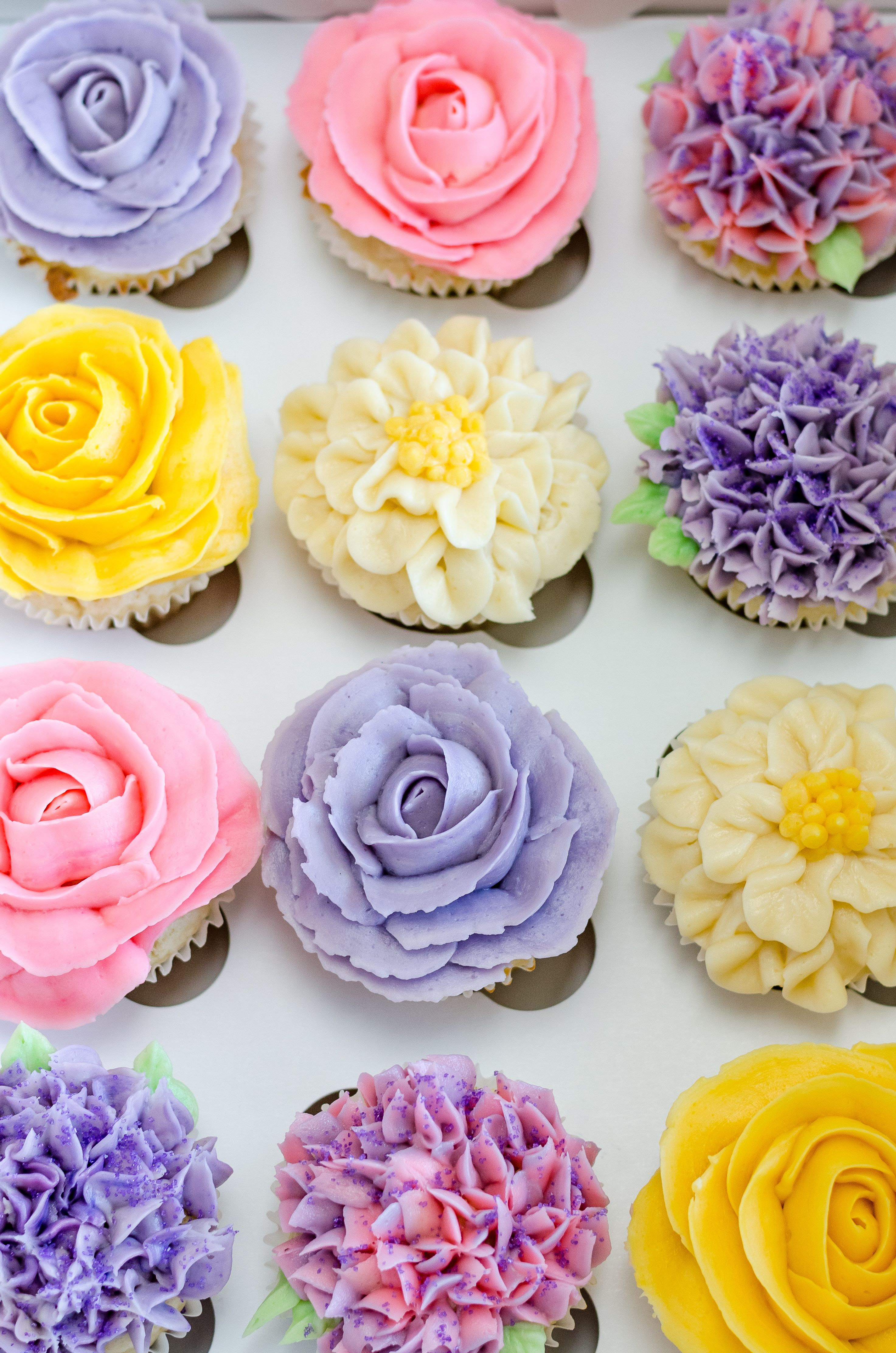 Flower Cupcakes Cupcake Decorating Ideas With Images Flower