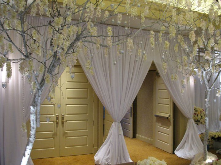 create a grand entrance into your wedding reception using pipe and ...