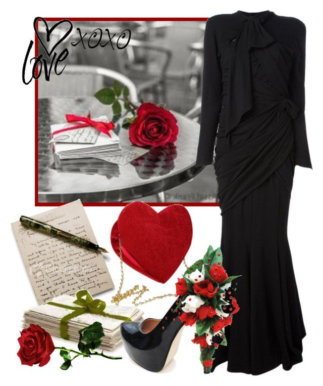 """Love Letters"" by smylin ❤ liked on Polyvore featuring Thierry Mugler and Masquerade"