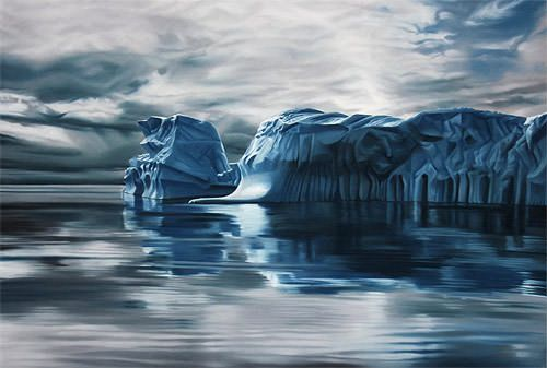 Hyperrealistic Pastel Drawings of Greenland  - https://magazine.dashburst.com/pic/hyperrealistic-pastel-drawings-of-greenland/