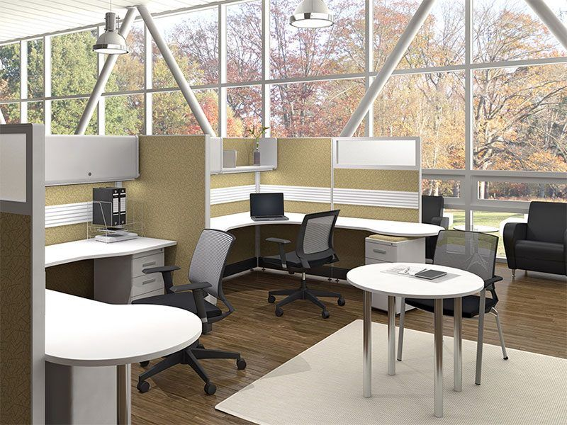 office cubicle lighting. less claustrophobic office cubicles are the most popular choice in todayu0027s furniture rosi cubicle lighting