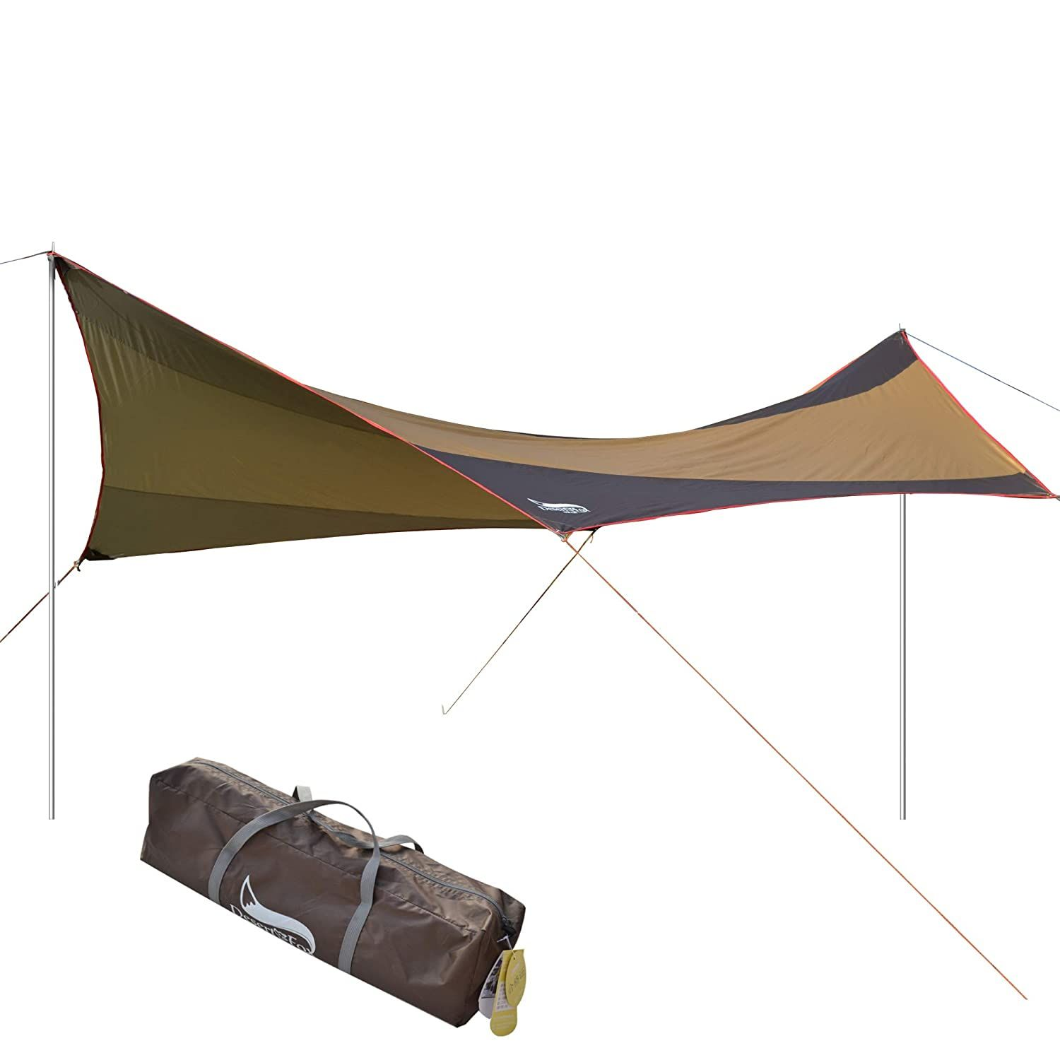 DESERT and FOX Camping Sun Shelter, 5-8 Person Waterproof ...