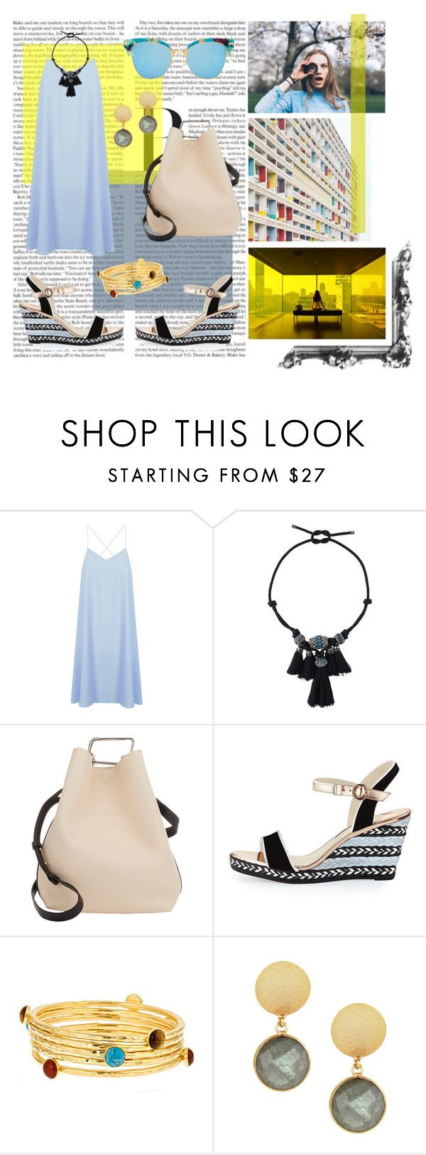 """""""June 18th 2016"""" by rania ❤ liked on Polyvore featuring Clare Nicolson, Sebastian Professional, Glamorous, Lanvin, 3.1 Phillip Lim, Sophia Webster, Bita Pourtavoosi and Feather & Stone"""