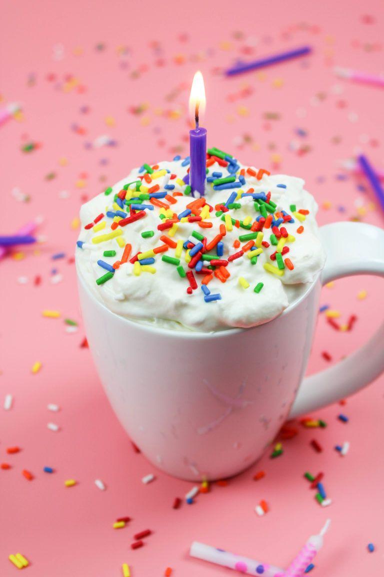 Birthday Cake Hot Chocolate Cakes Birthday Pinterest Hot